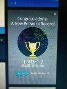 My Garmin said I ran 28.32 miles and that my marathon was my fastest...hmmmmm!