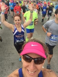 Start line selfie with Dana! Off we go!
